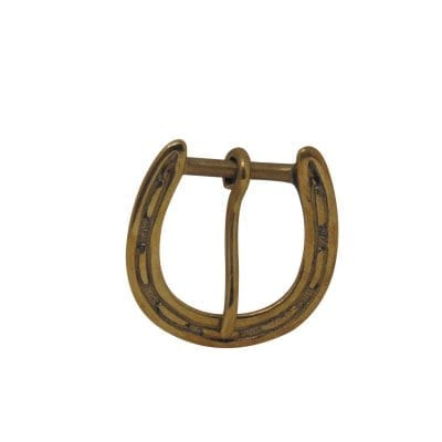 Brass horseshoe buckle