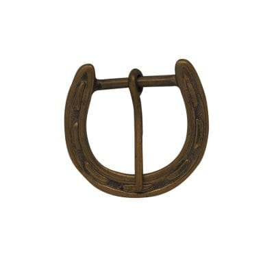 Brass Horse Shoe Belt Buckle