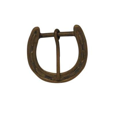 Brass Horse Shoe Belt Buckle