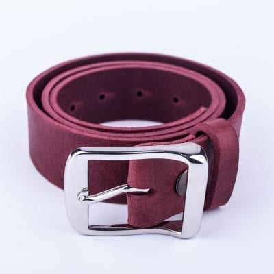 Mens burgundy belt for jeans