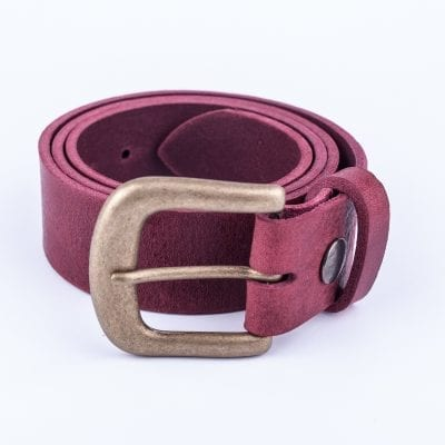 Ladies burgundy belt for jeans