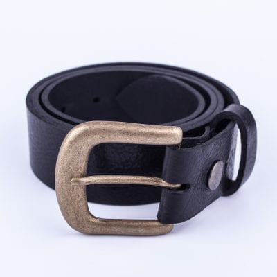 Ladies black belt for jeans