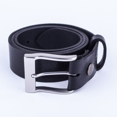 Mens black belt for jeans