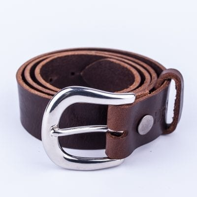 Ladies dark brown belt for jeans