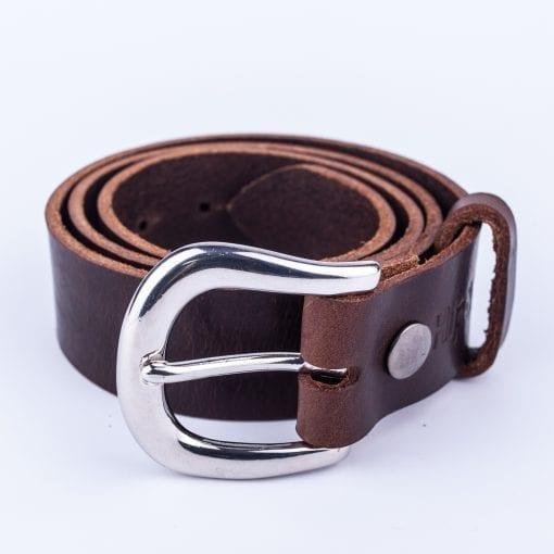 Ladies dark brown belt for jeans