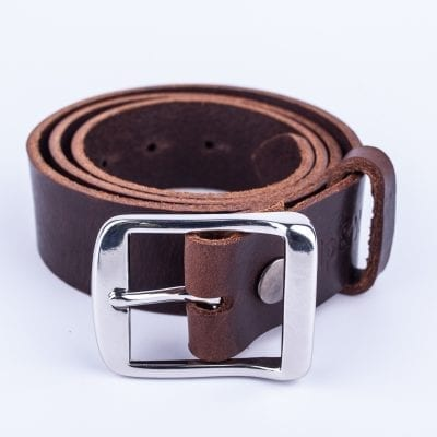 Mens dark brown belt for jeans