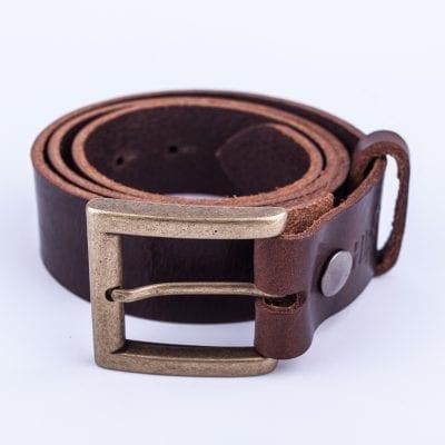 Mens dark brown belt for jeans