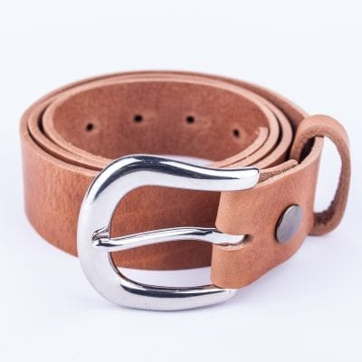 Ladies tan belt for jeans