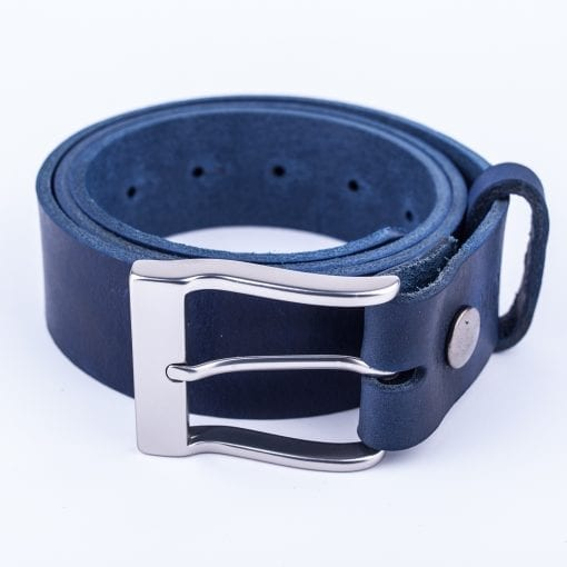 Mens blue belt for jeans
