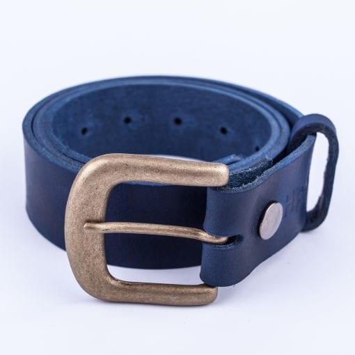 Mens blue belt for jeans