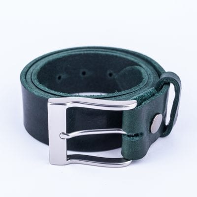 Mens green belt for jeans