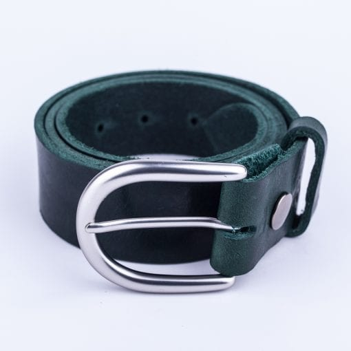 Ladies green belt for jeans