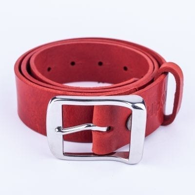 Mens red belt for jeans