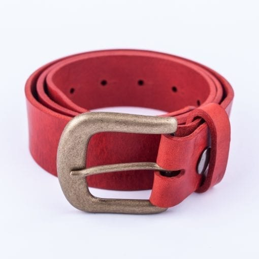 Ladies red belt for jeans