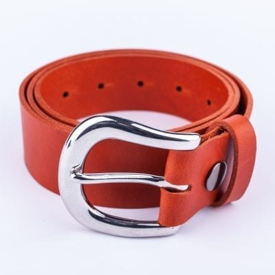 Ladies orange belt for jeans