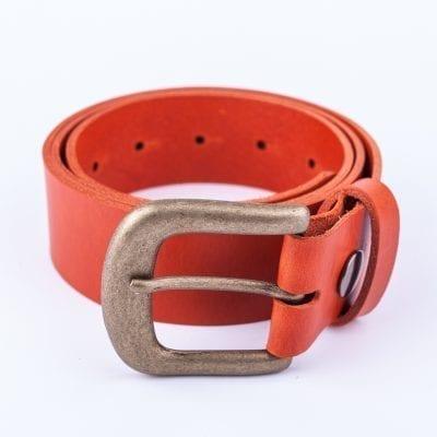 Ladies orange belt for jeans