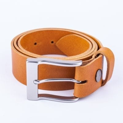 Mens yellow belt for jeans