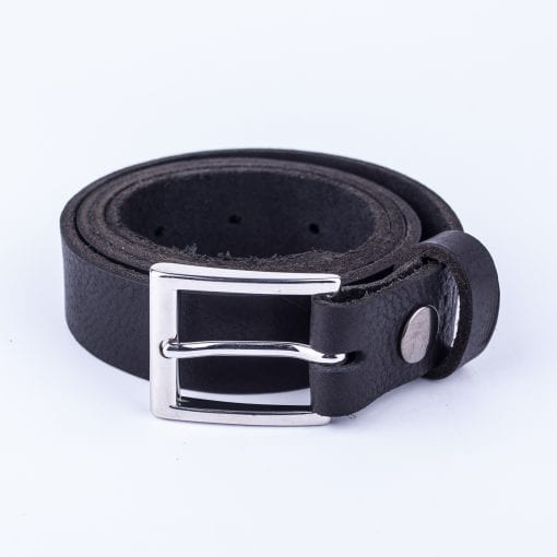Black leather belt to wear with mens suits