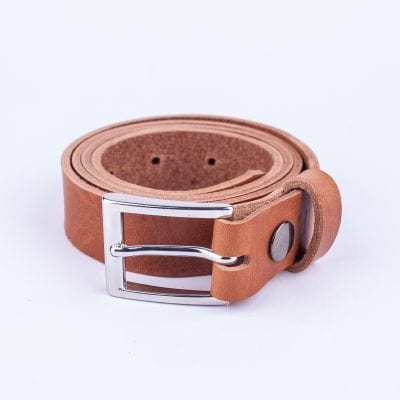 Tan leather belt to wear with mens suits
