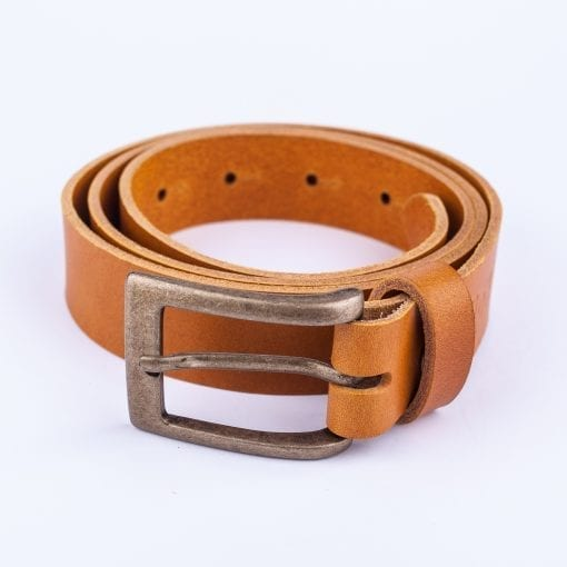 Yellow leather belt to wear with mens suits