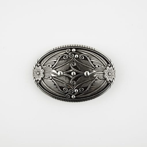 A removable ornate belt buckle