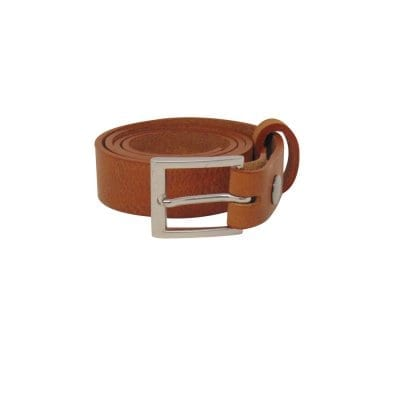 Tan leather dress belt for men