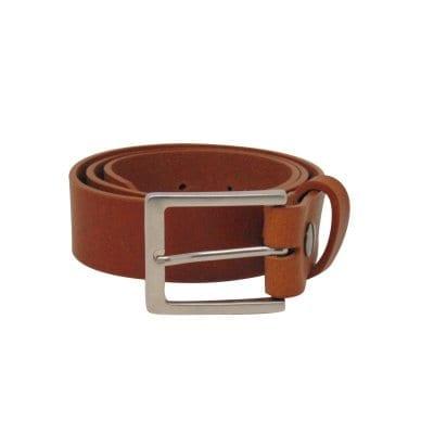 Tan leather jeans belt for men