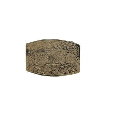 Orante plate buckle for dress belts