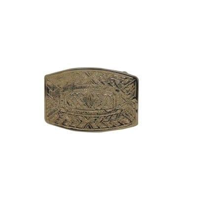 Orante plate buckle for dress belts