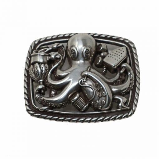 Octopus belt buckle