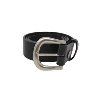 Black leather jeans belt for women