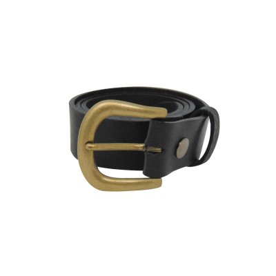 Black leather jeans belt for women