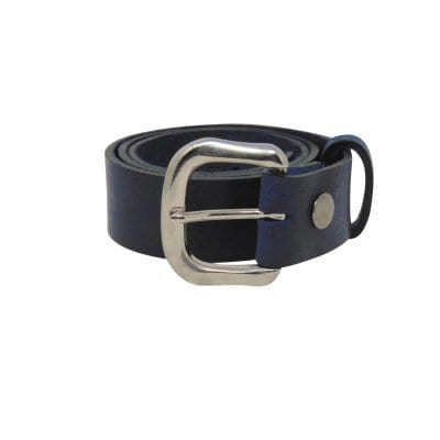 Blue leather jeans belt for women