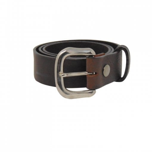 Brown leather jeans belt for women