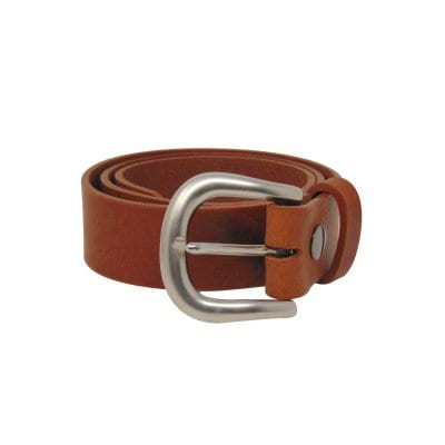 Tan leather jeans belt for women
