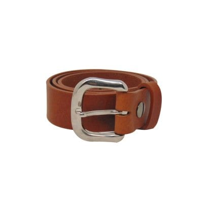 Tan leather jeans belt for women